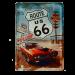 Postal Metalica Route 66 Mustang