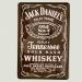 Cartel Metálico de Jack Daniels