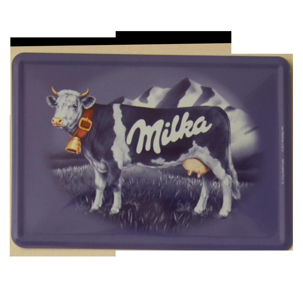 Postal Metálica Milka
