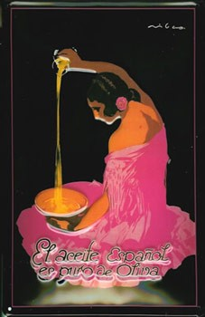 Cartel Publicitario Aceite Español Puro de Oliva