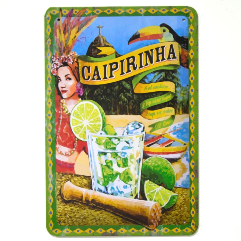 Chapa Metálica Caipirinha