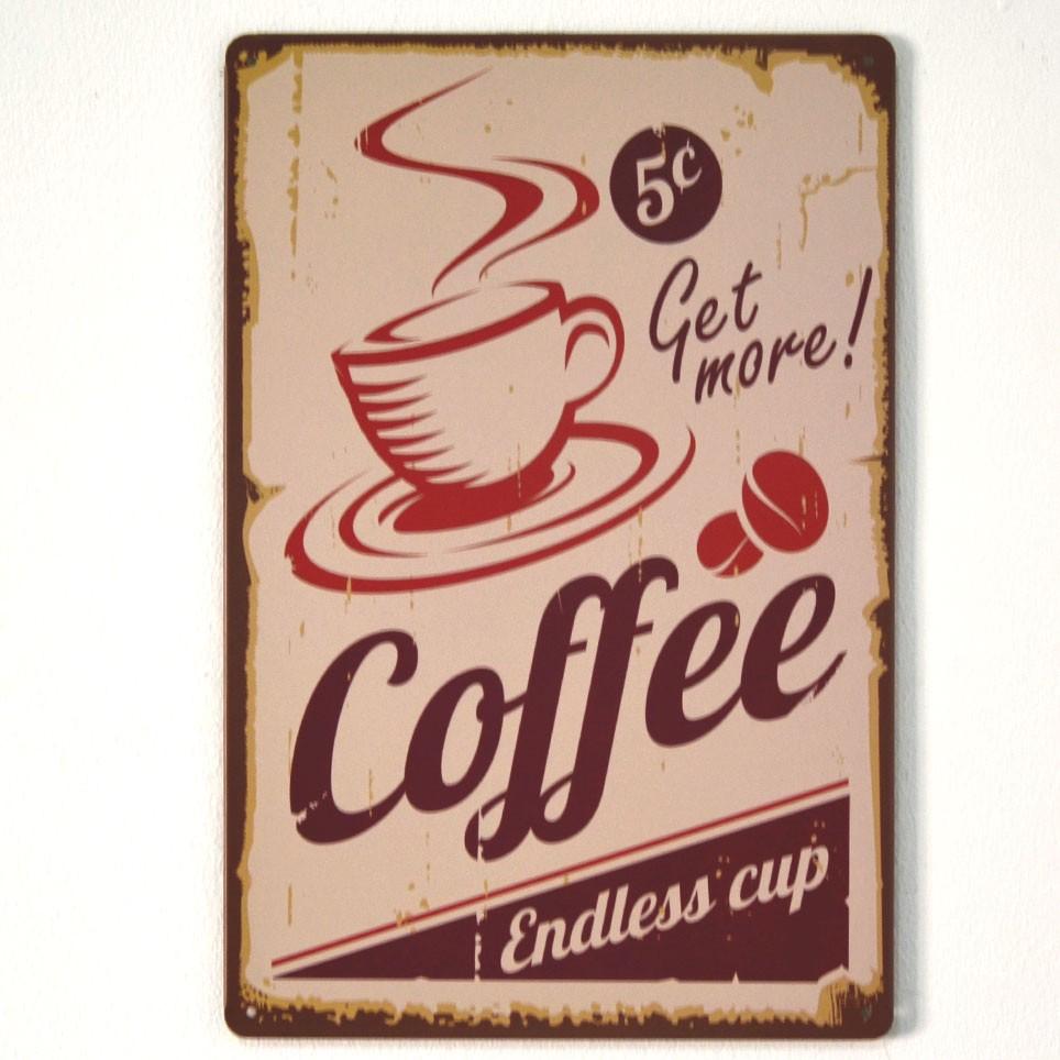 Chapa Metálica Coffee