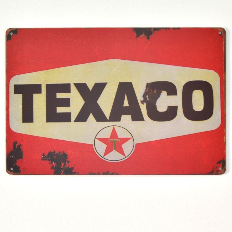 Chapa Metálica Texaco Logo
