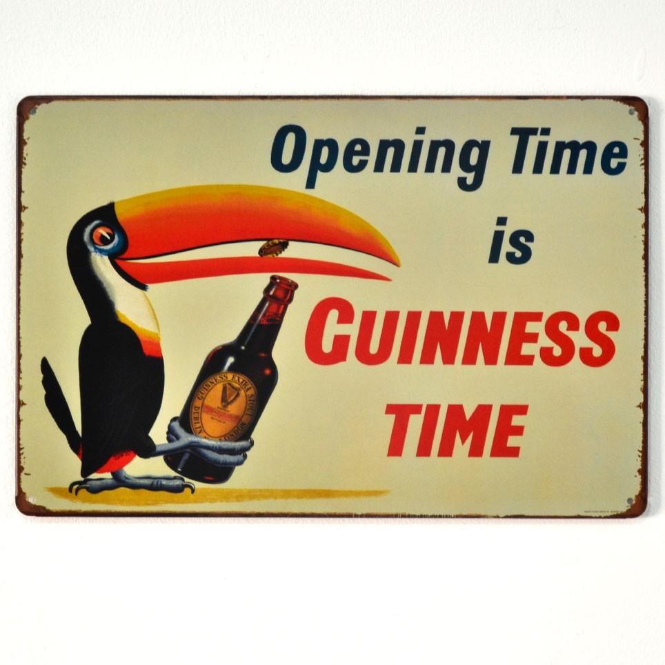 Chapa Metálica Guinness Tucan