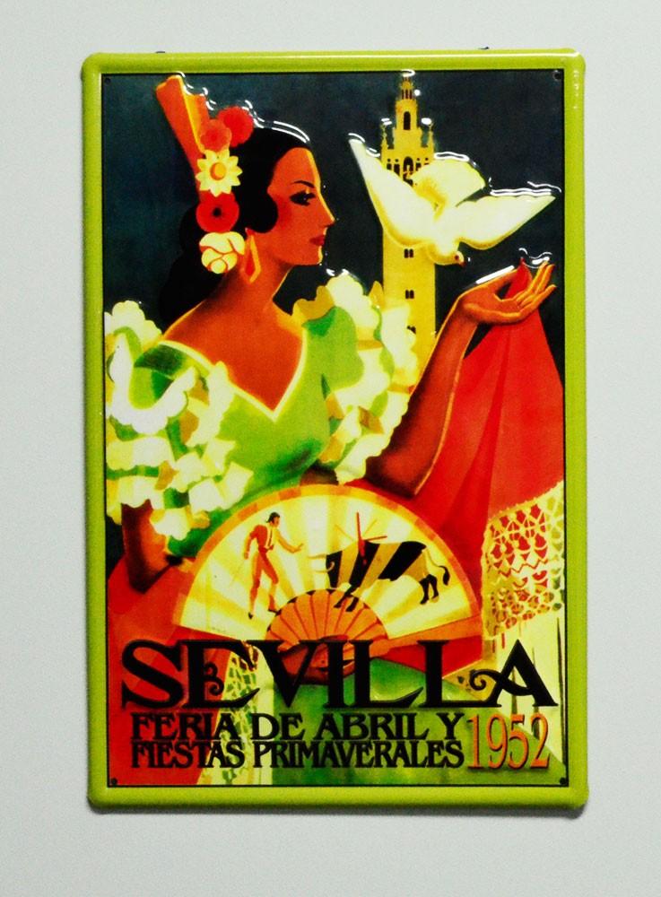 Cartel  Metálico Feria de Abril de Sevilla 1952