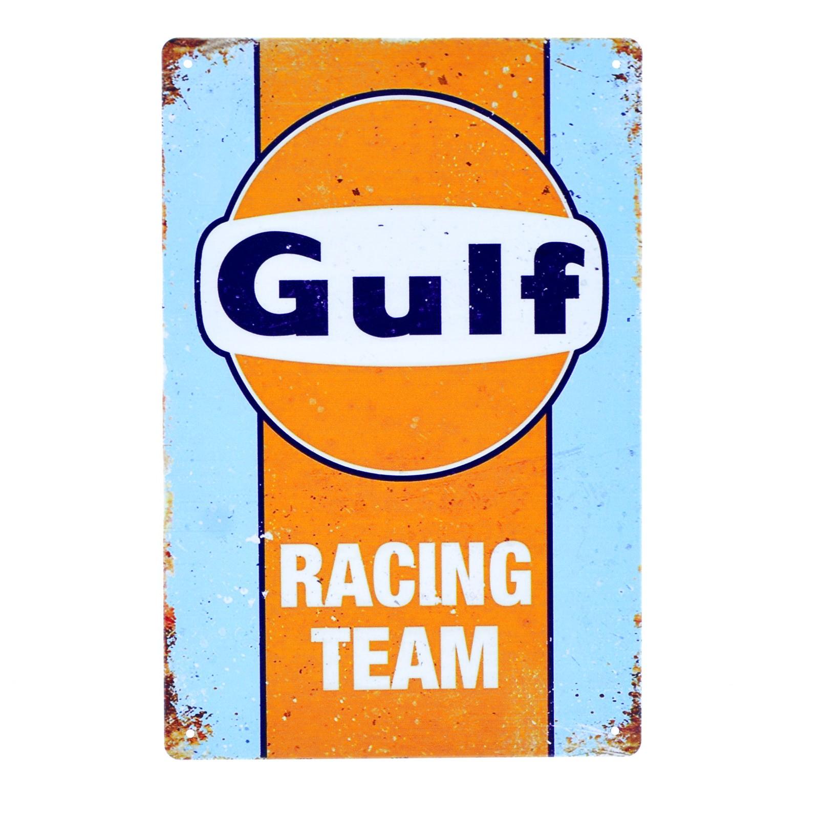 Cartel Metálico de Gulf