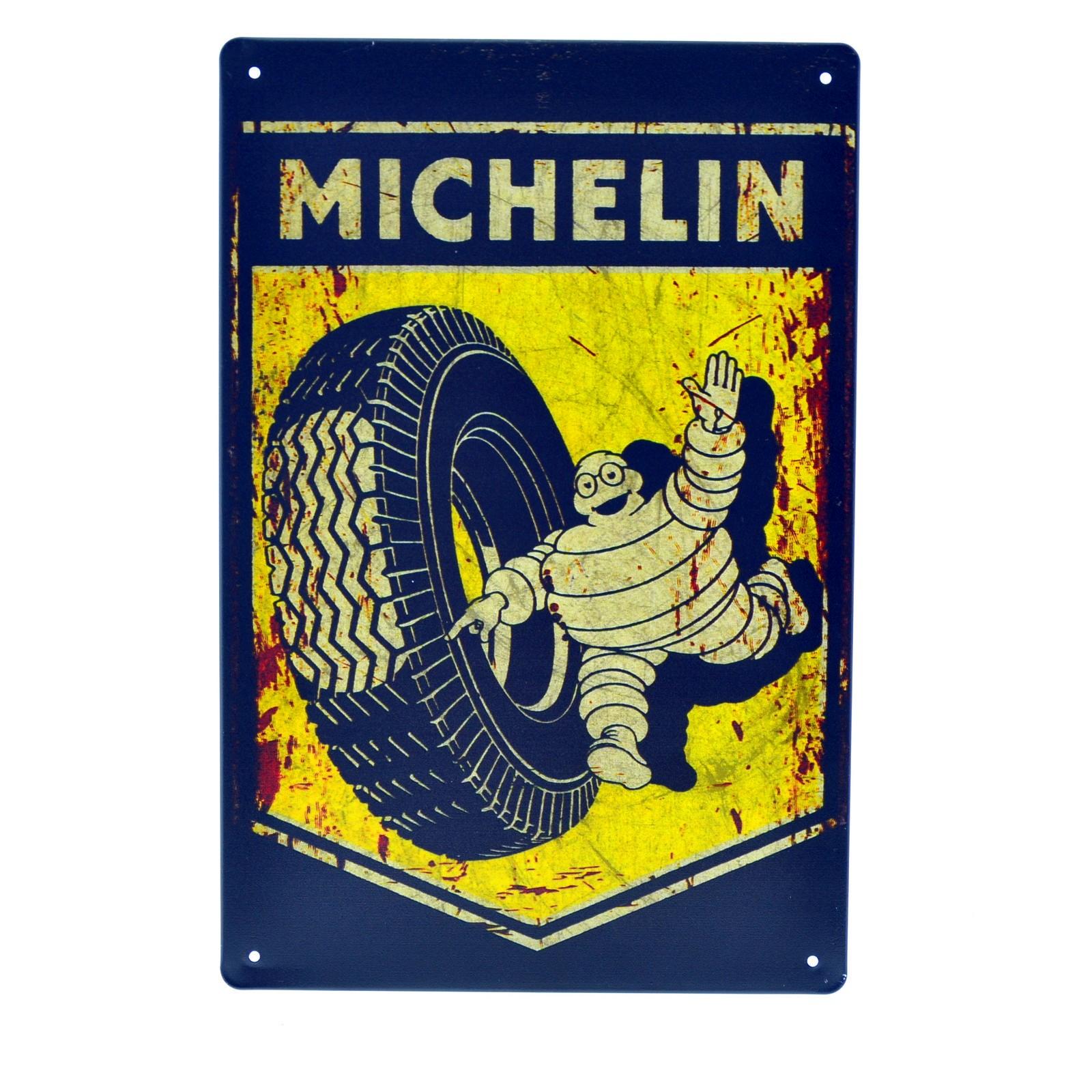 Cartel Metálico de Michelin neumatico