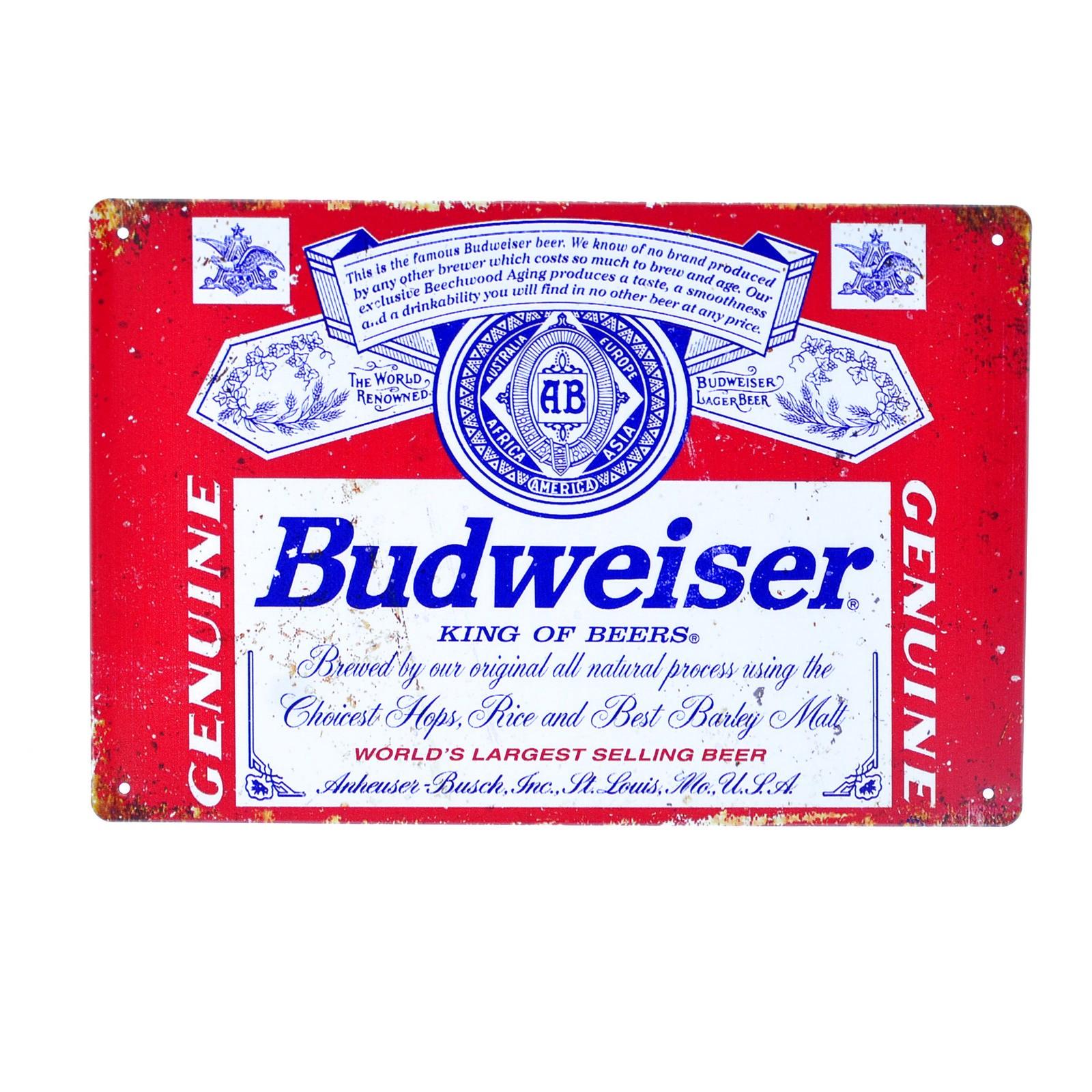 Cartel Metálico de Budweisser
