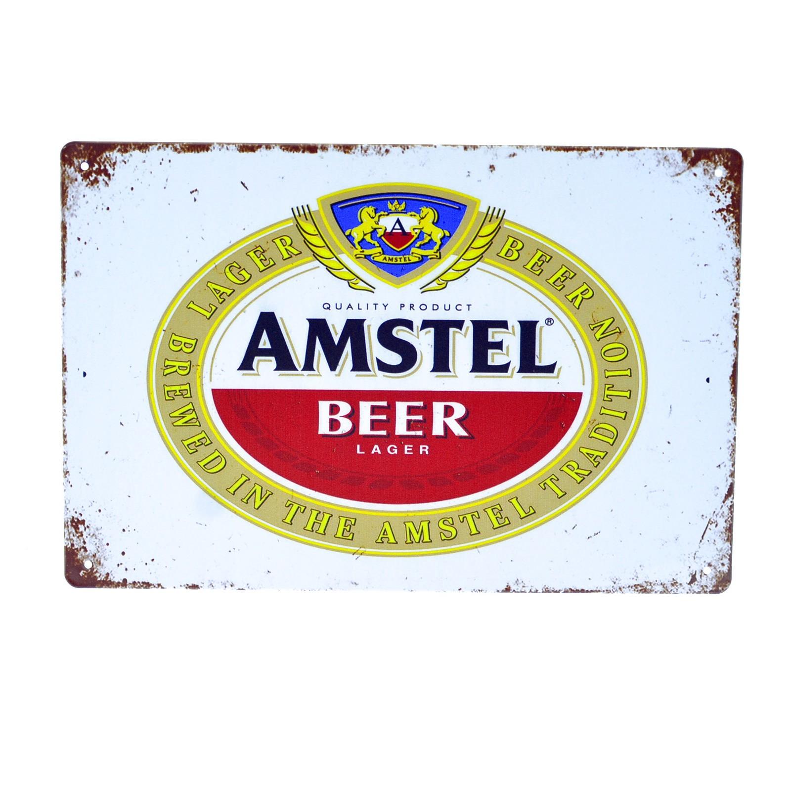 Cartel Metálico de Amstel