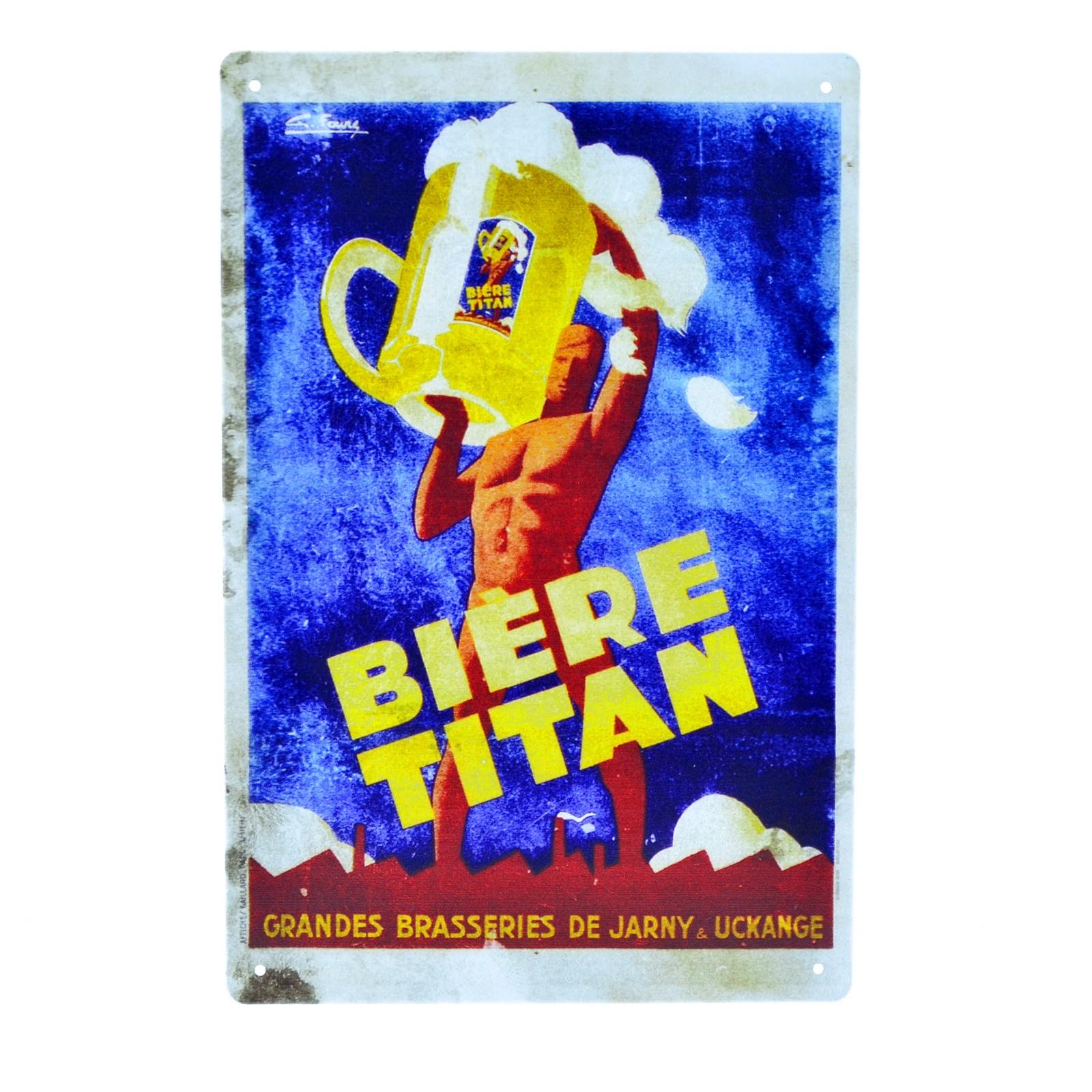 Cartel Metálico de Biere Titan