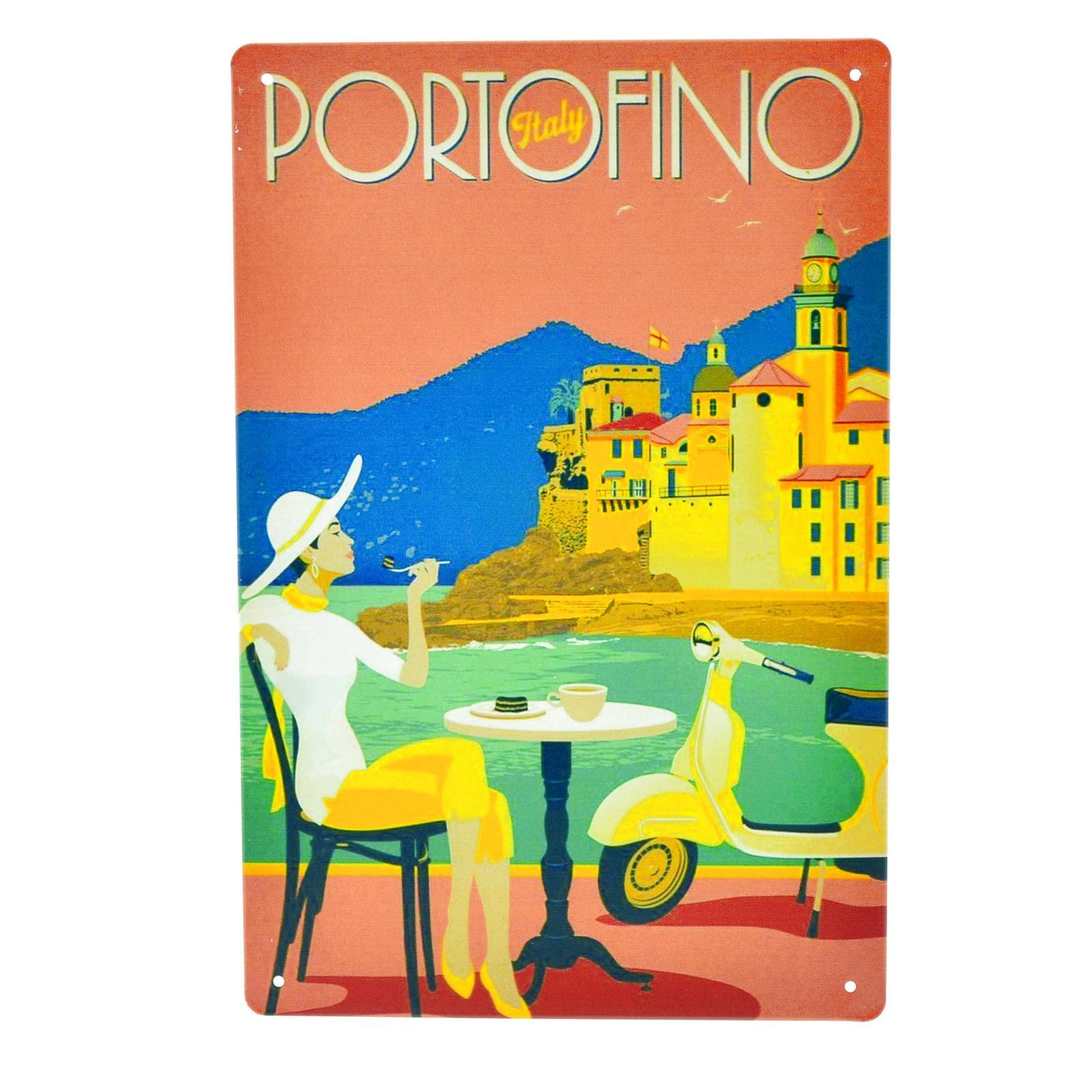 Cartel Metálico de Portofino