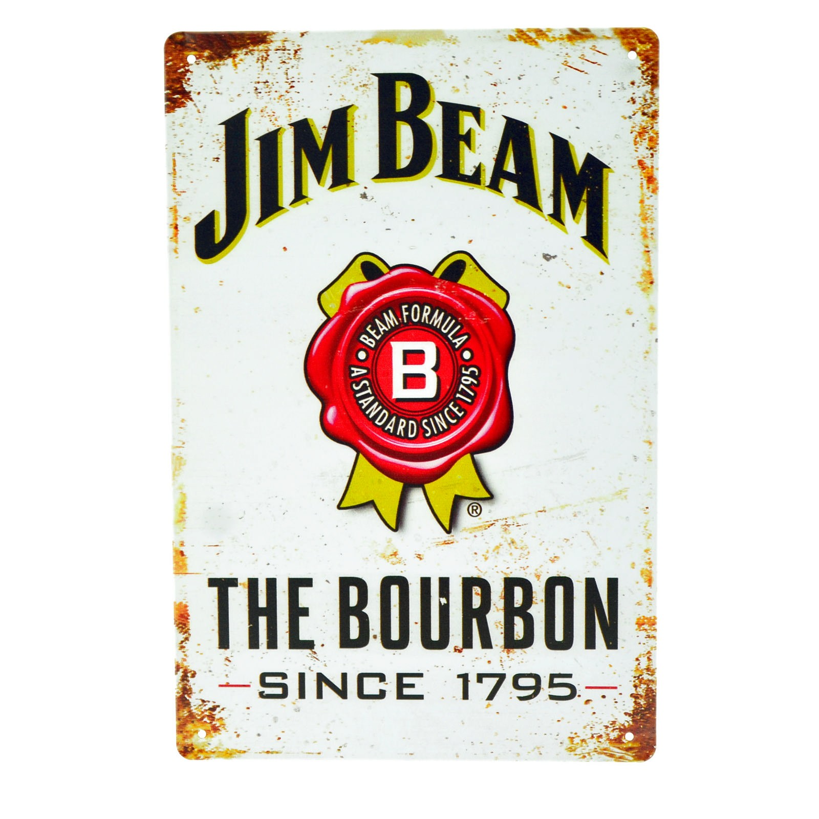 Cartel Metálico de Jim Beam