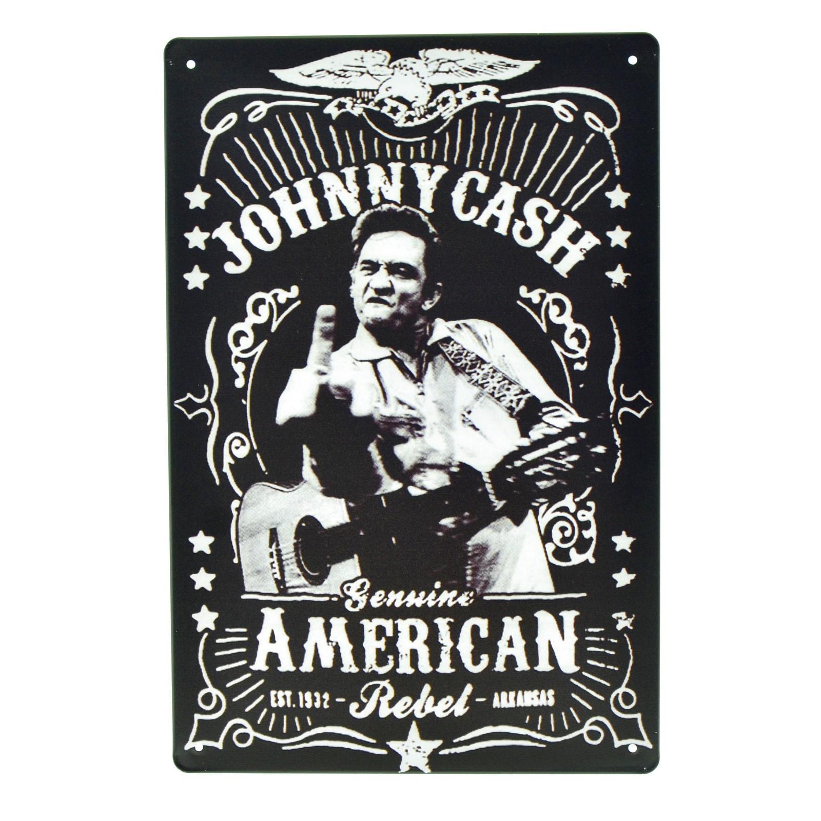 Cartel Metálico de Johnny Cash