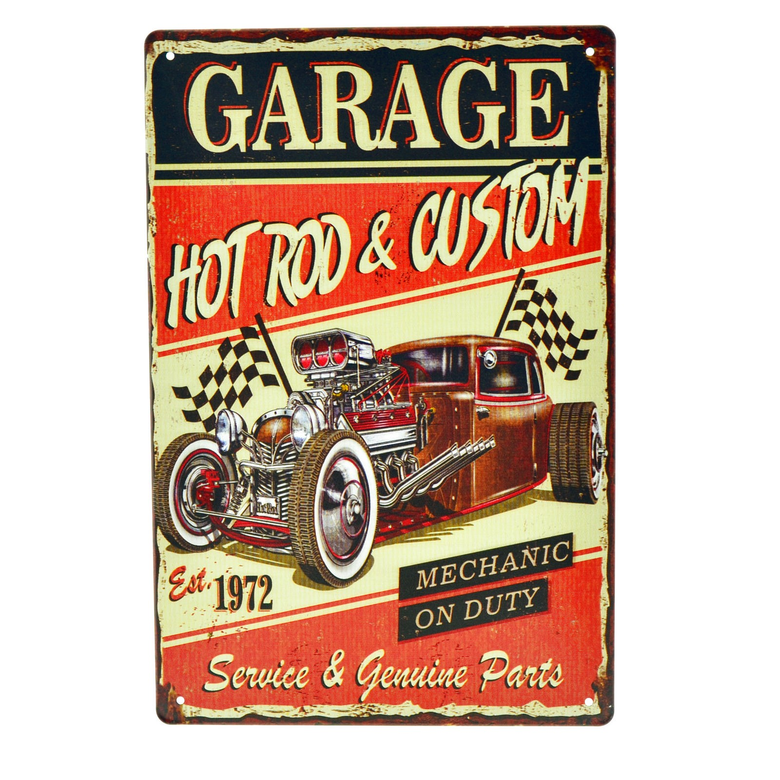 Cartel Metálico de Garage Hot Rod Custom