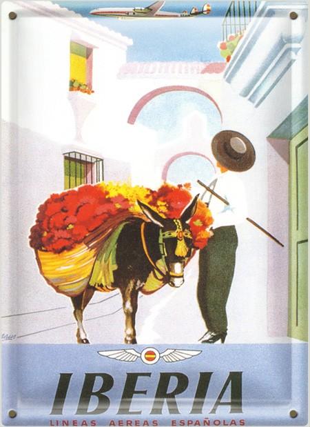 Postal Metálica Iberia Burro