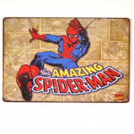Chapa Metálica Spiderman