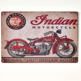 Chapa Metálica Indian Motorcycle