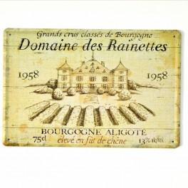 Chapa Metálica Château des Rainettes