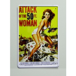 Cartel  Metálico Attack of the 50 ft Woman