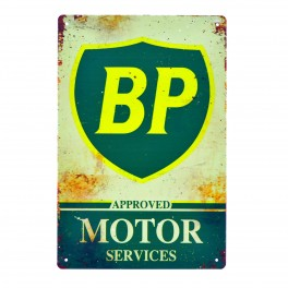 Cartel Metálico de BP