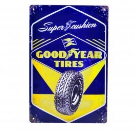Cartel Metálico de Good Year Tyres