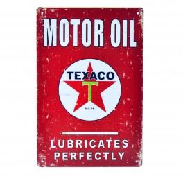 Cartel Metálico de Texaco logo