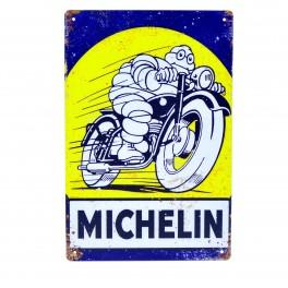 Cartel Metálico de Michelin moto 2