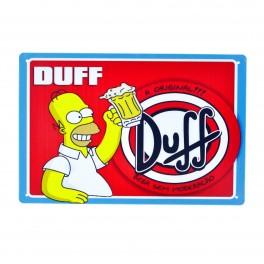 Cartel Metálico de A original Duff