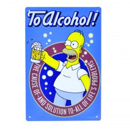 Cartel Metálico de Homer to alcohol