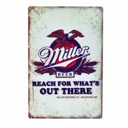 Cartel Metálico de Miller aguila