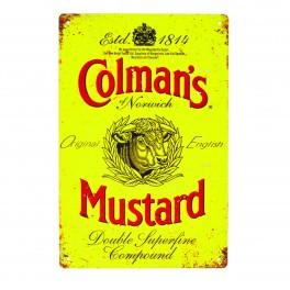 Cartel Metálico de Colman´s Mustard