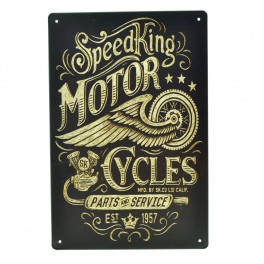 Cartel Metálico de Speed King Motor Cycles