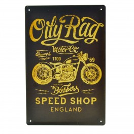 Cartel Metálico de Oily Rag Motor Co