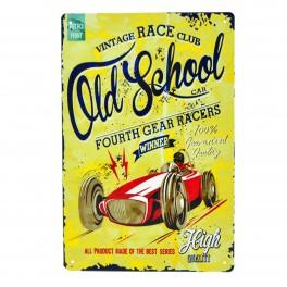 Cartel Metálico de Old School Car