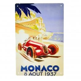 Cartel Metálico de GP Monaco 1937