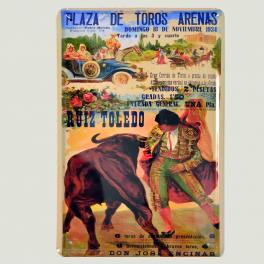 Cartel Metálico de Plaza de Toros Arenas