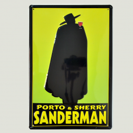 Cartel Metálico Sanderman