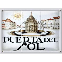Postal Metálica Puerta Del Sol