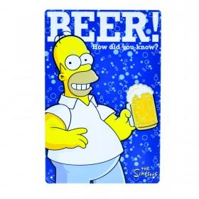 Cartel Metálico de Homer Beer!