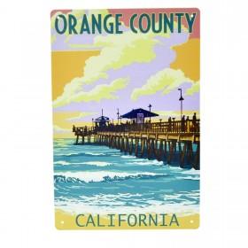 Cartel Metálico de Orange County