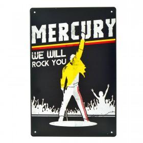 Cartel Metálico de Freddy Mercury
