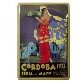 Chapa Metálica Feria Cordoba 1934