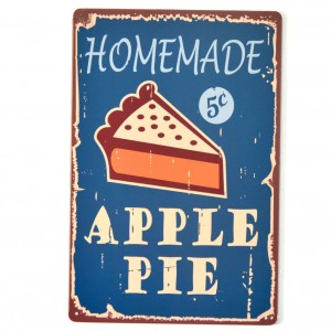 Chapa Metálica Apple Pie