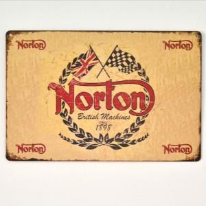 Chapa Metálica Norton logo