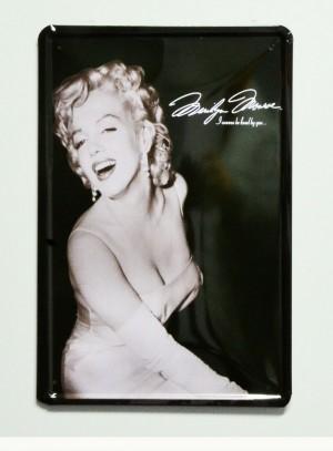 Cartel  Metálico Marilyn Monroe , La tentación vive arriba