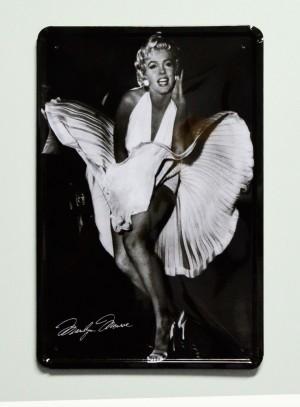 Cartel  Metálico Marilyn Monroe