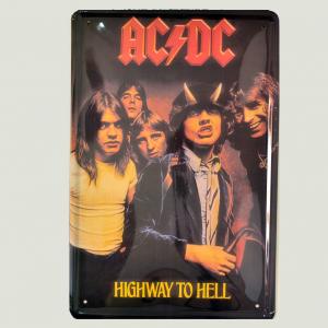 Cartel Metálico de AC DC Higway to Hell