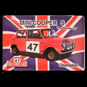 Cartel Metálico Mini Cooper S