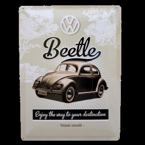 Postal Metálica Volkswagen Beetle