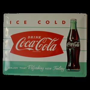 Cartel Publicitario Coca Cola Ice Cold